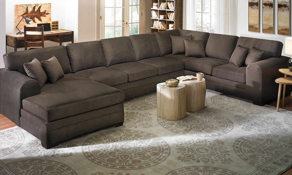 Sectional Sofas With Double Chaise Pertaining To Preferred Furniture: Arhaus Sectional For Easily Blends With Any Home (View 14 of 15)