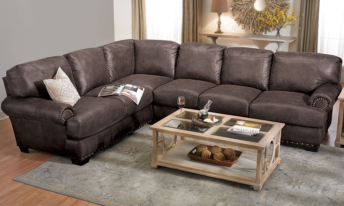 Sectional Sofas With Nailhead Trim With Well Liked Shogun Sectional Sofa With Nail Head Trim (View 13 of 15)
