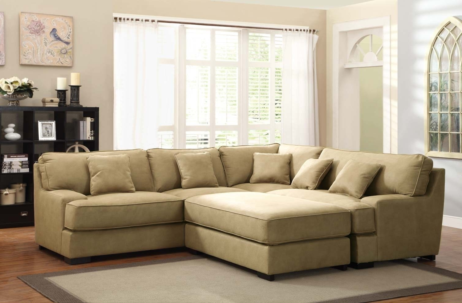 Sectional Sofas With Oversized Ottoman Regarding Recent Sofa : Sectional Sofa With Oversized Ottoman Oversized Sectional (View 11 of 15)
