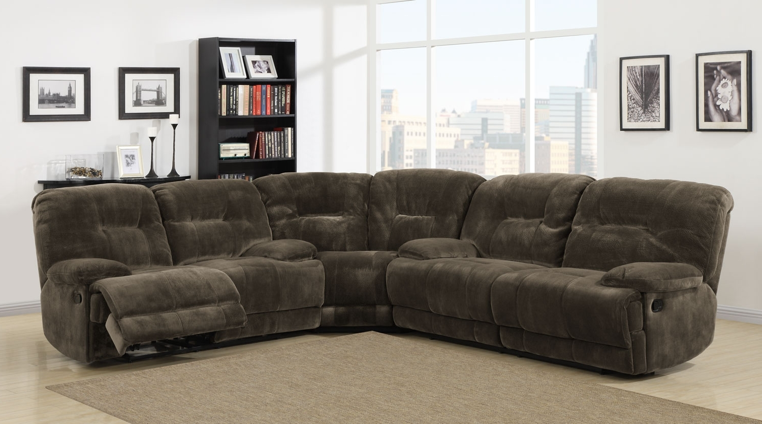 Sectional Sofas With Power Recliners For Most Popular Homelegance Geoffrey Power Reclining Sectional Sofa Set Throughout (View 2 of 15)
