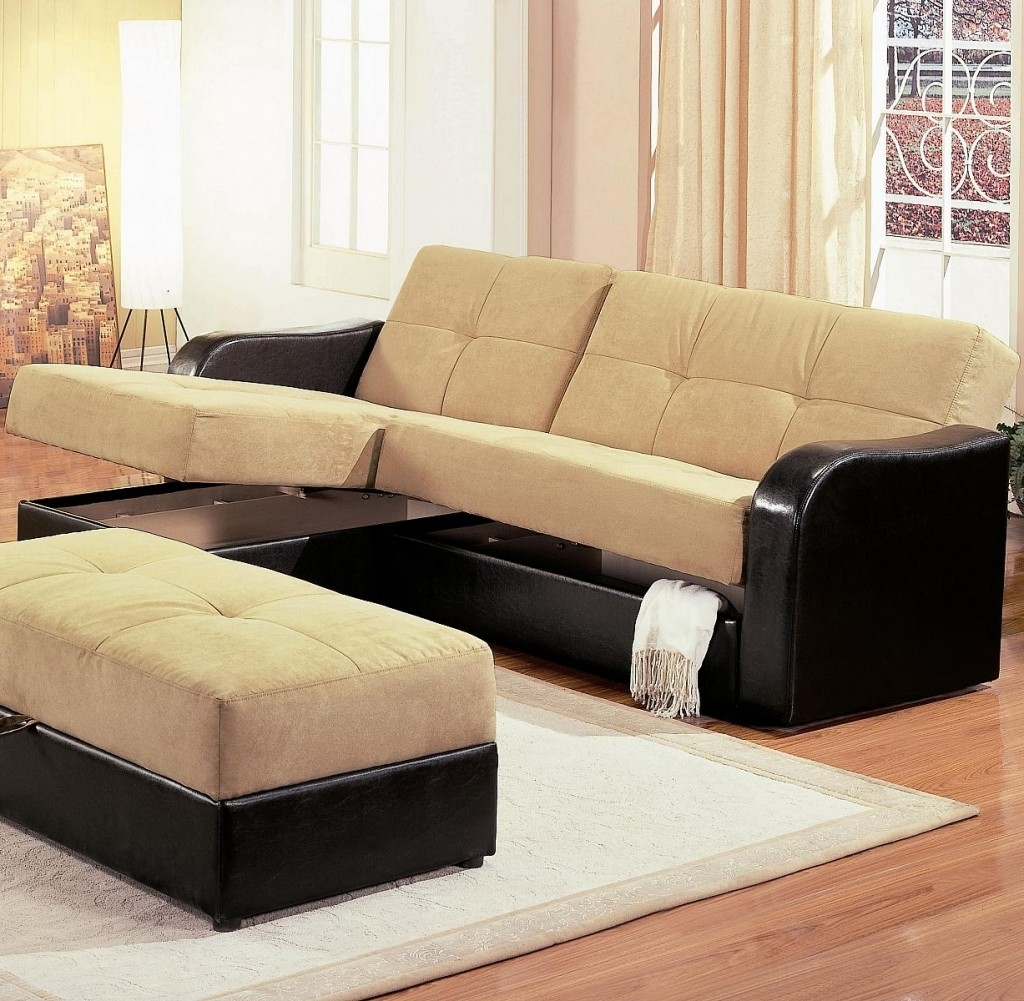 Sectional Sofas With Storage In Most Recent Leather Armchair And Ottoman Chaise Sofa With Storage Ottoman (View 9 of 15)