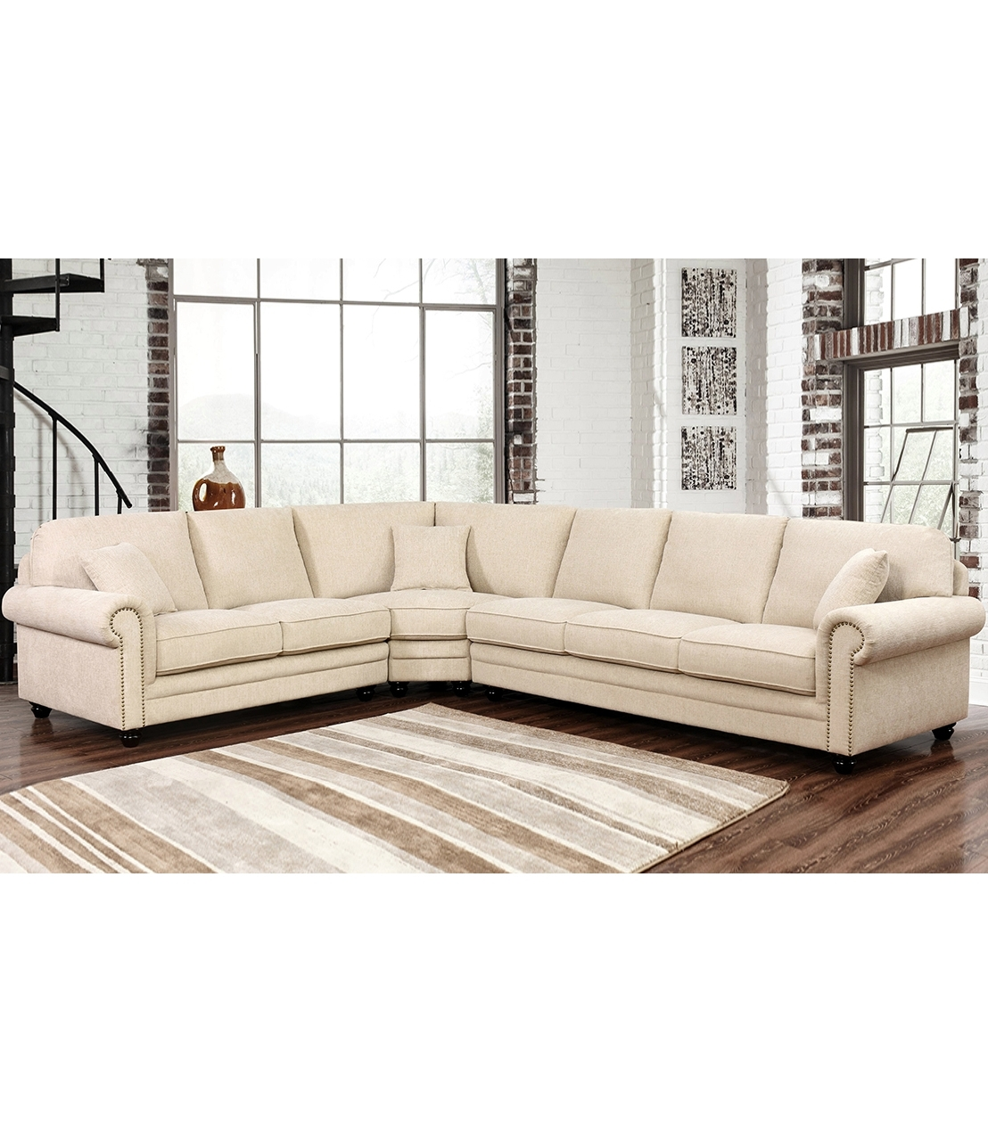 Sectionals : Deana Fabric Sectional For Newest Abbyson Sectional Sofas (View 14 of 15)