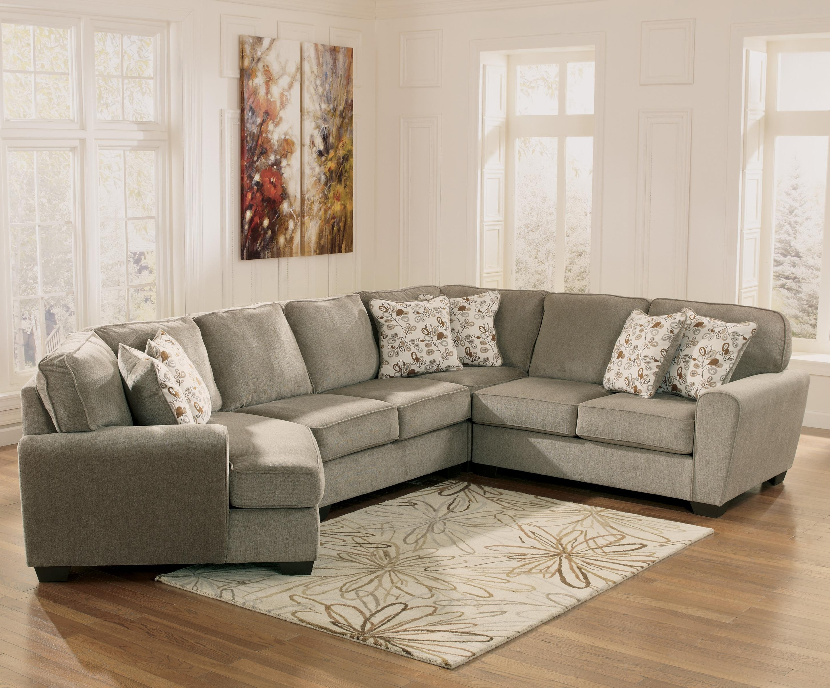 Sectionals With Cuddler And Chaise Regarding Famous Patina 4 Piece Small Sectional With Right Cuddler (View 11 of 15)