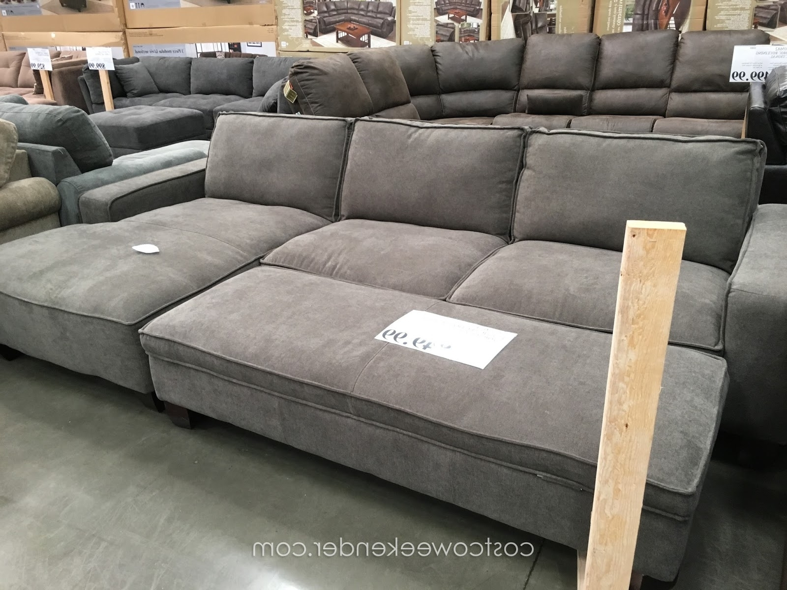 Sectionals With Ottoman And Chaise With Popular Sectional Sofa Design: Costco Sectional Sofas Best Ever Leather (View 13 of 15)