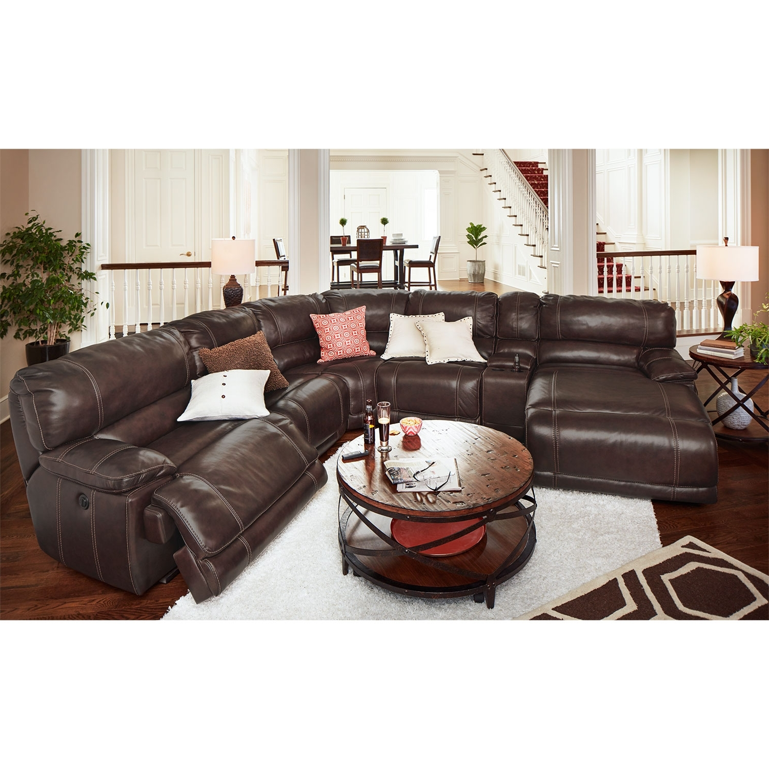 Sectionals With Recliner And Chaise Inside Widely Used St (View 9 of 15)