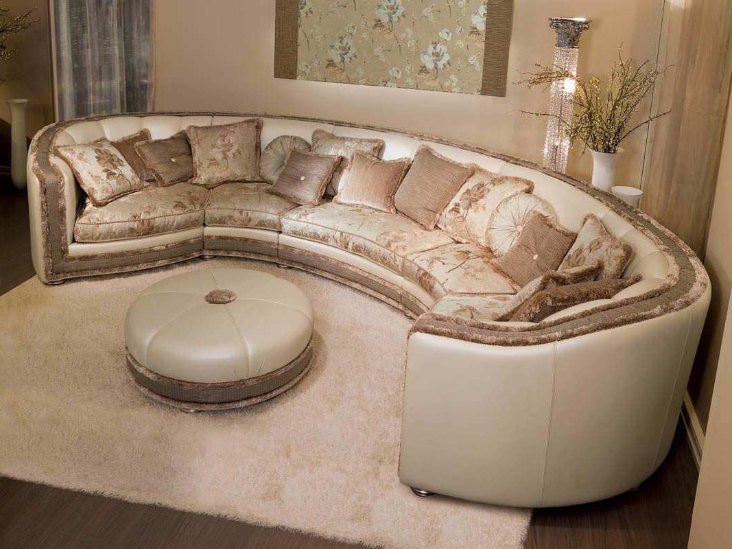 Semicircular Sofas For Most Current Modular Sofa / Semicircular / Classic / Fabric – Venere – Pigoli (View 8 of 15)