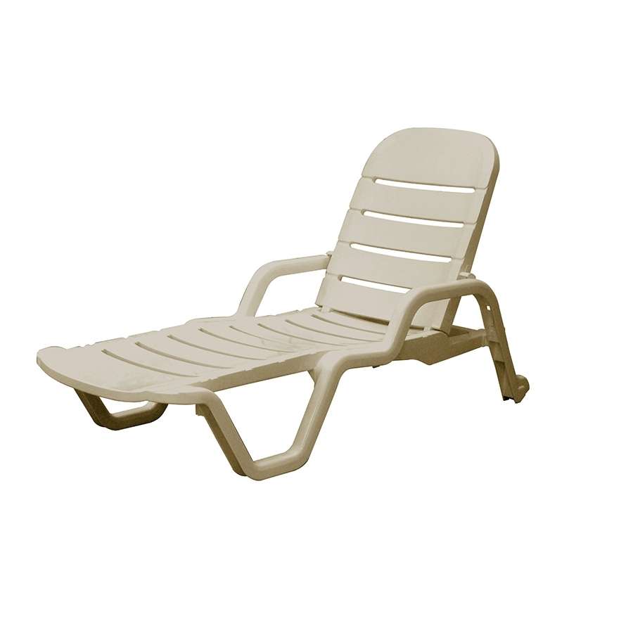 Shop Adams Mfg Corp Desert Clay Resin Stackable Patio Chaise Within Newest Resin Chaise Lounge Chairs (View 11 of 15)