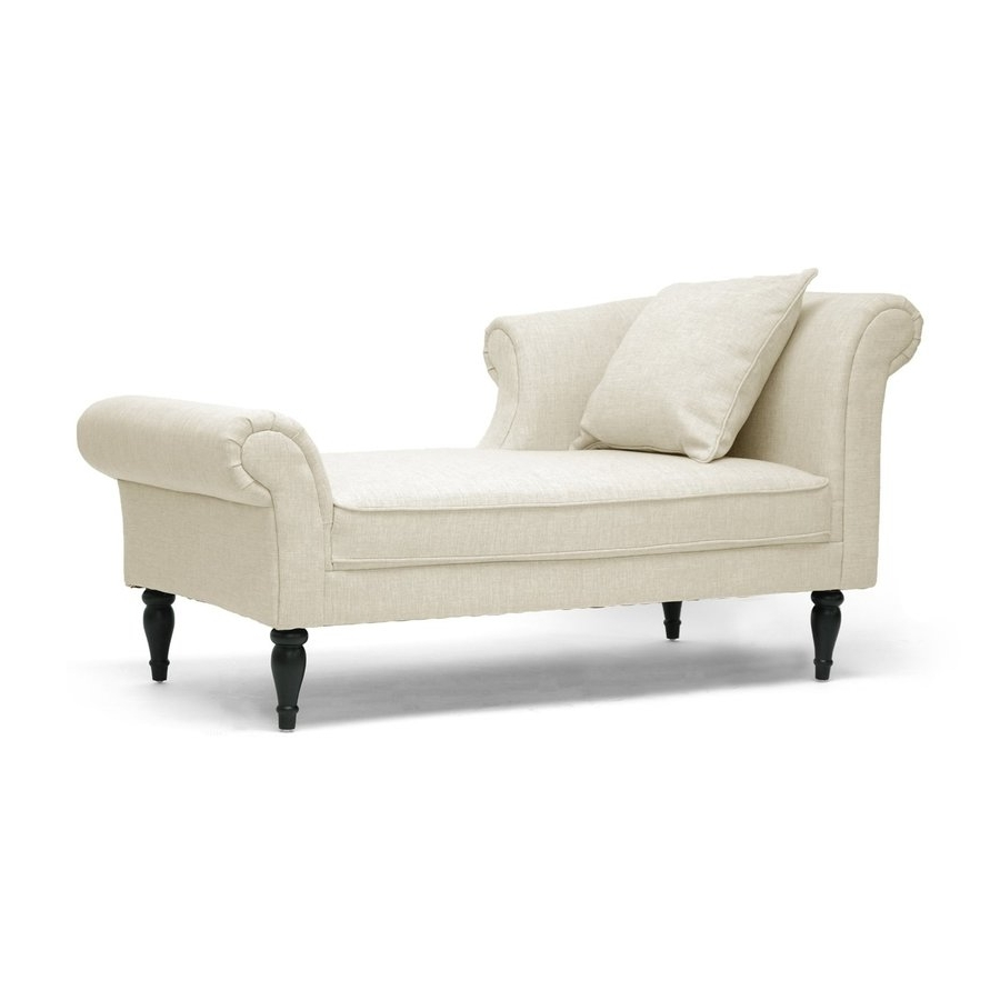 Shop Baxton Studio Lucille Casual Beige Linen Chaise Lounges At With Regard To Well Liked Linen Chaise Lounges (View 12 of 15)
