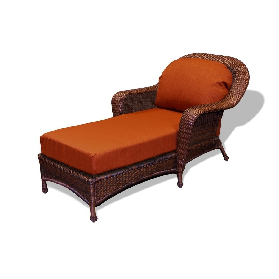 Shop Tortuga Outdoor Lexington Java Aluminum Wicker Patio Chaise For Well Known Chaise Lounge Chairs With Arms (View 14 of 15)