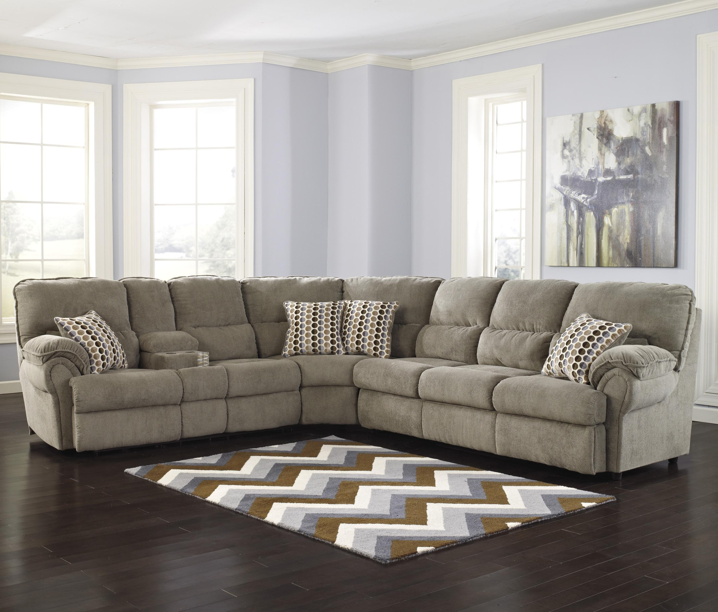 Signature Designashley Comfort Commandor – Mocha Sectional W With Most Recent Peterborough Ontario Sectional Sofas (View 3 of 15)