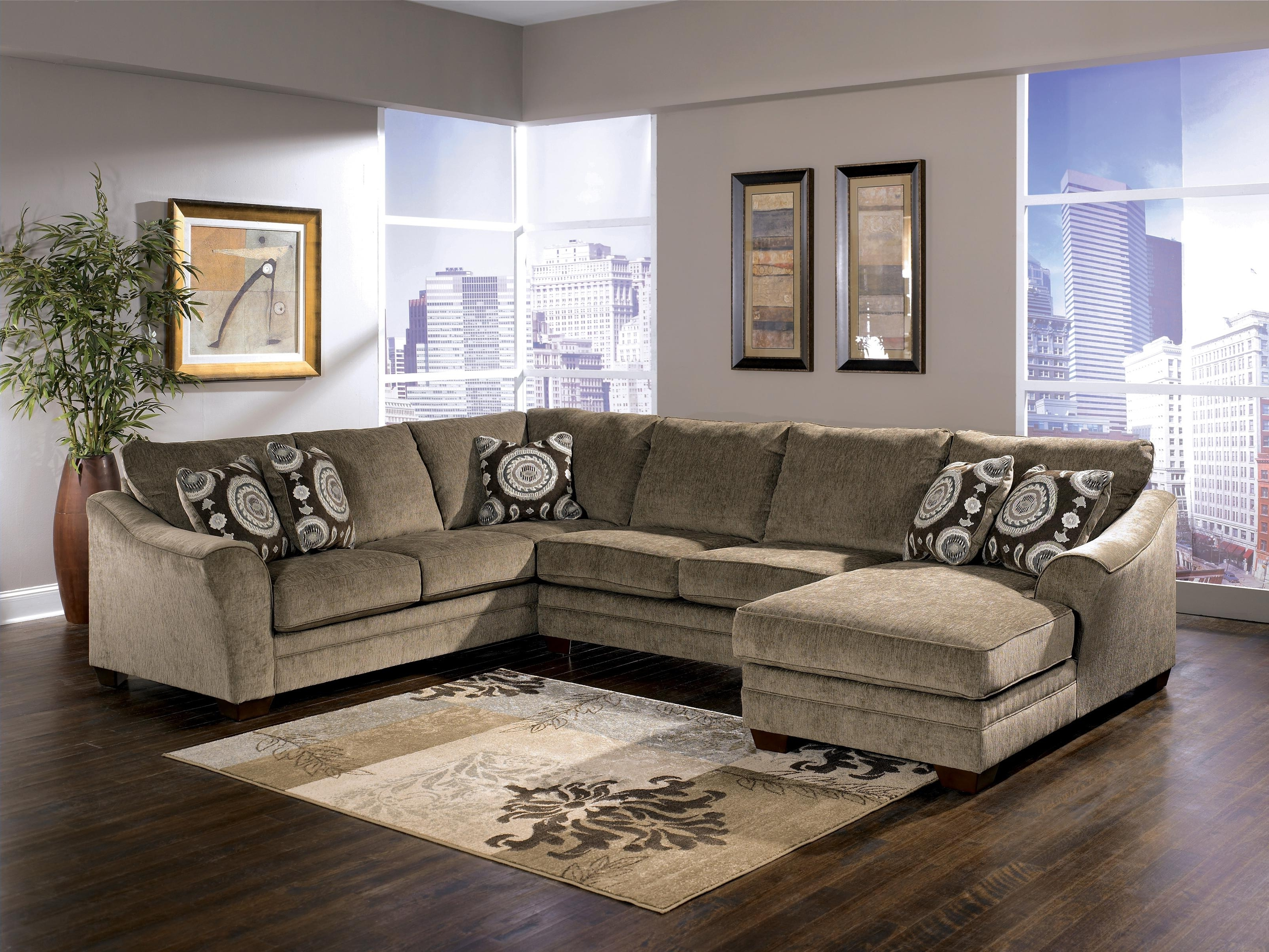 Signature Designashley Cosmo – Marble Sectional Sofa With Inside Trendy Knoxville Tn Sectional Sofas (View 13 of 15)