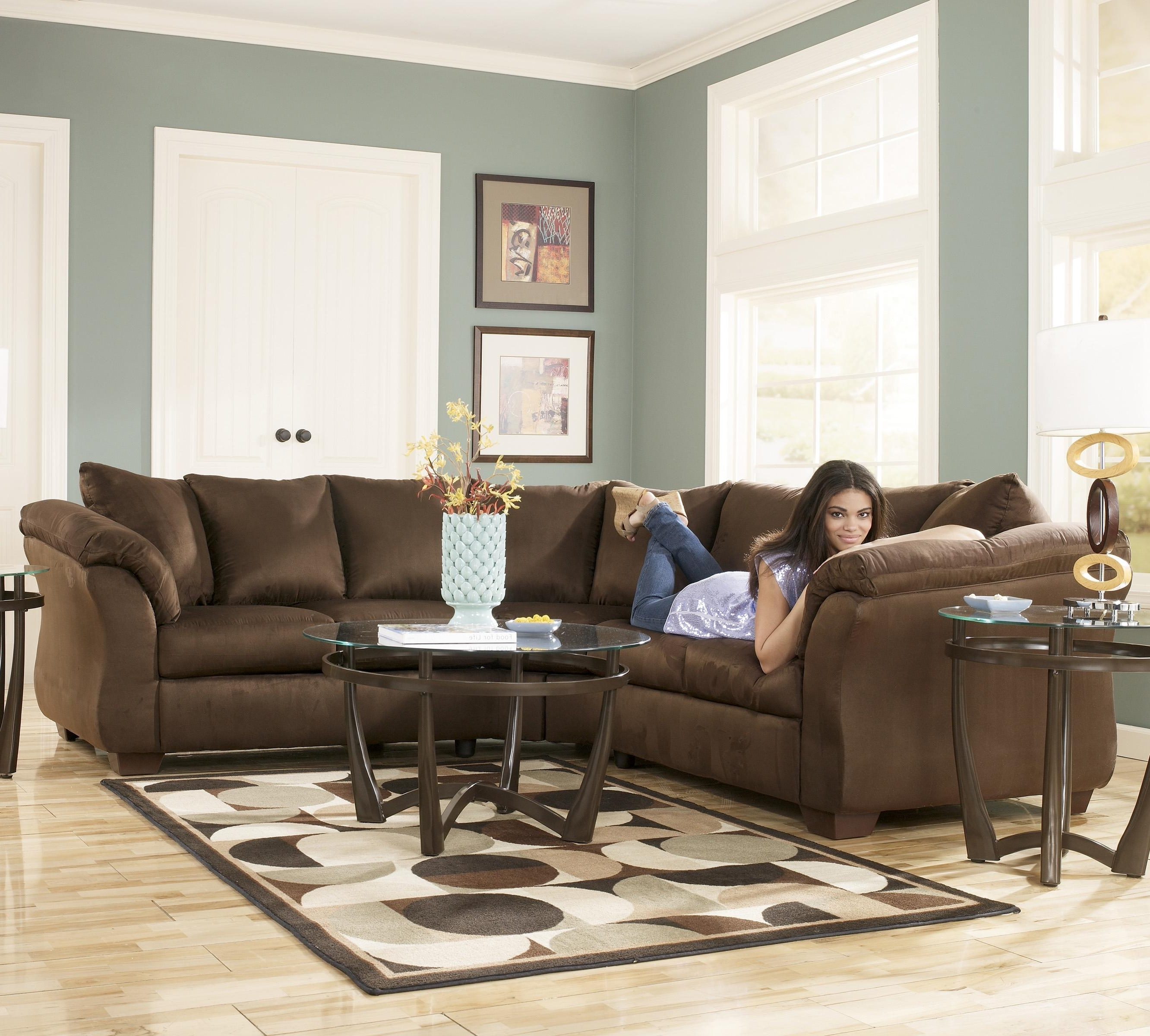 Signature Designashley Darcy – Cafe Contemporary Sectional Regarding Well Liked 102X102 Sectional Sofas (View 11 of 15)