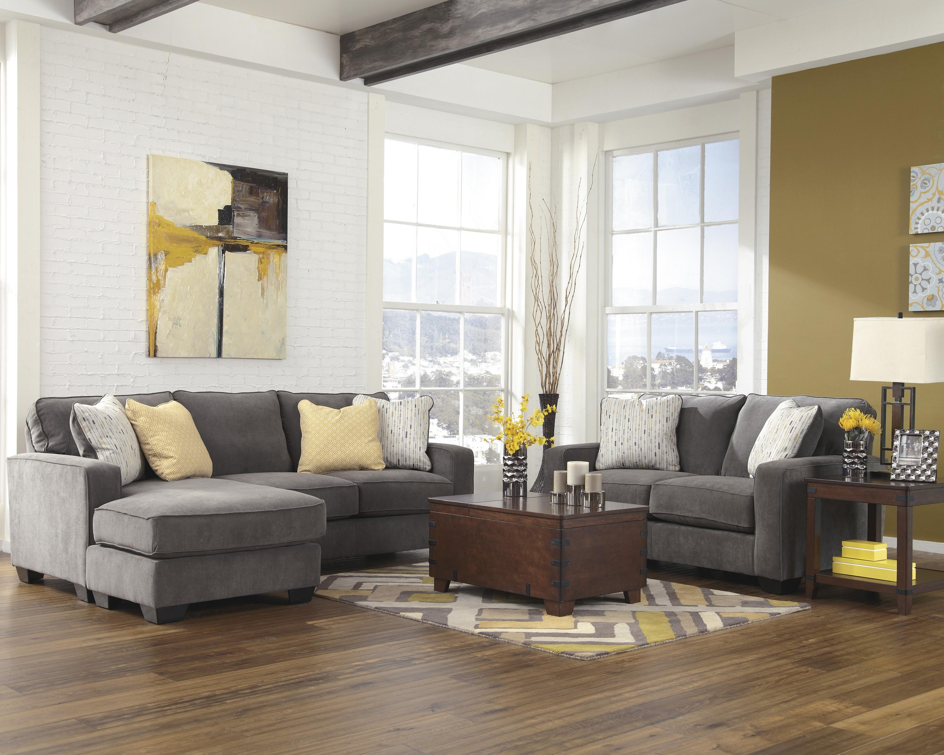 Signature Designashley Hodan – Marble Contemporary Sofa Chaise Intended For Trendy Hodan Sofas With Chaise (View 7 of 15)