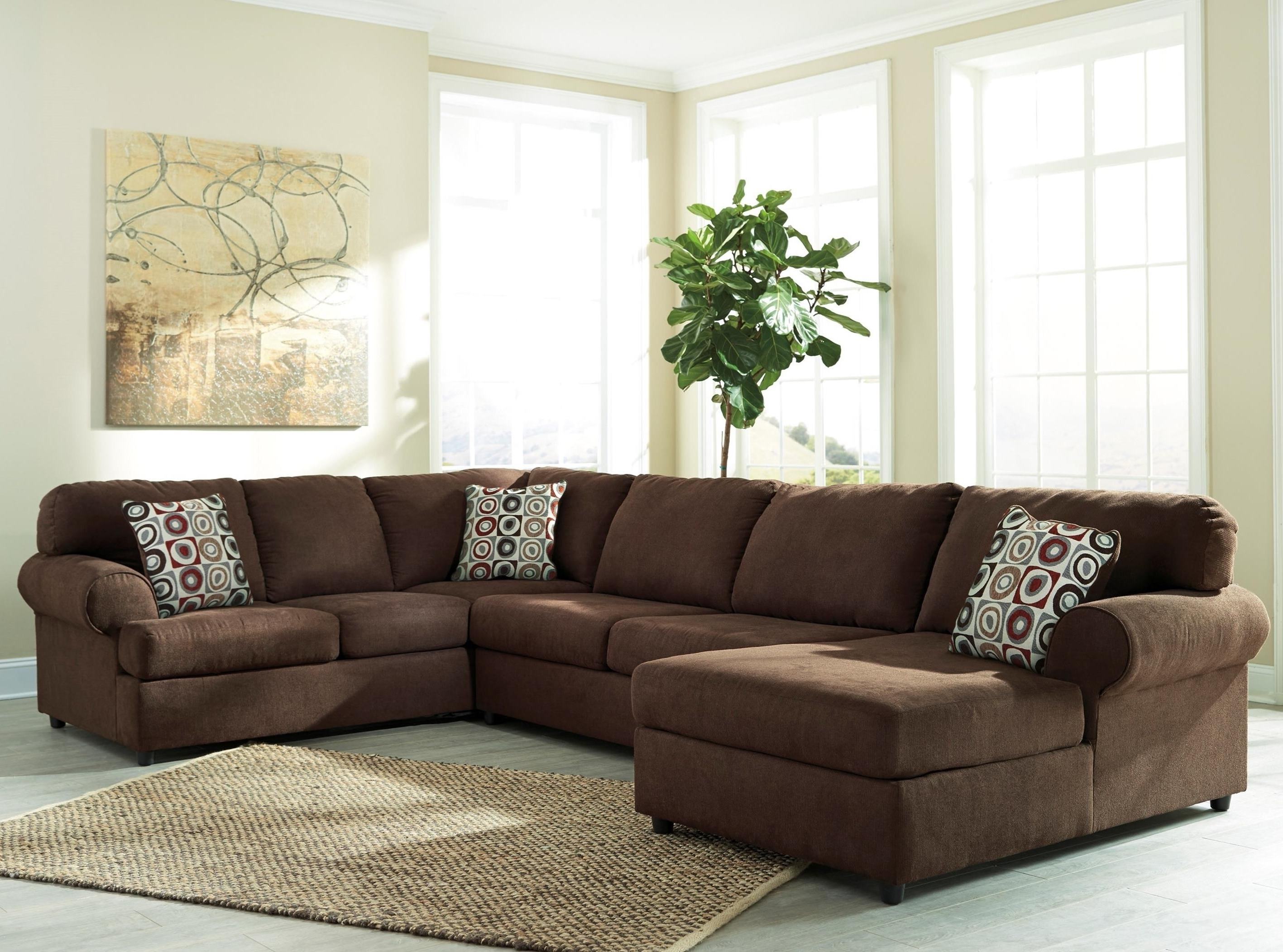 Signature Designashley Jayceon 3 Piece Sectional With Left For Most Recent Long Chaise Sofas (View 8 of 15)