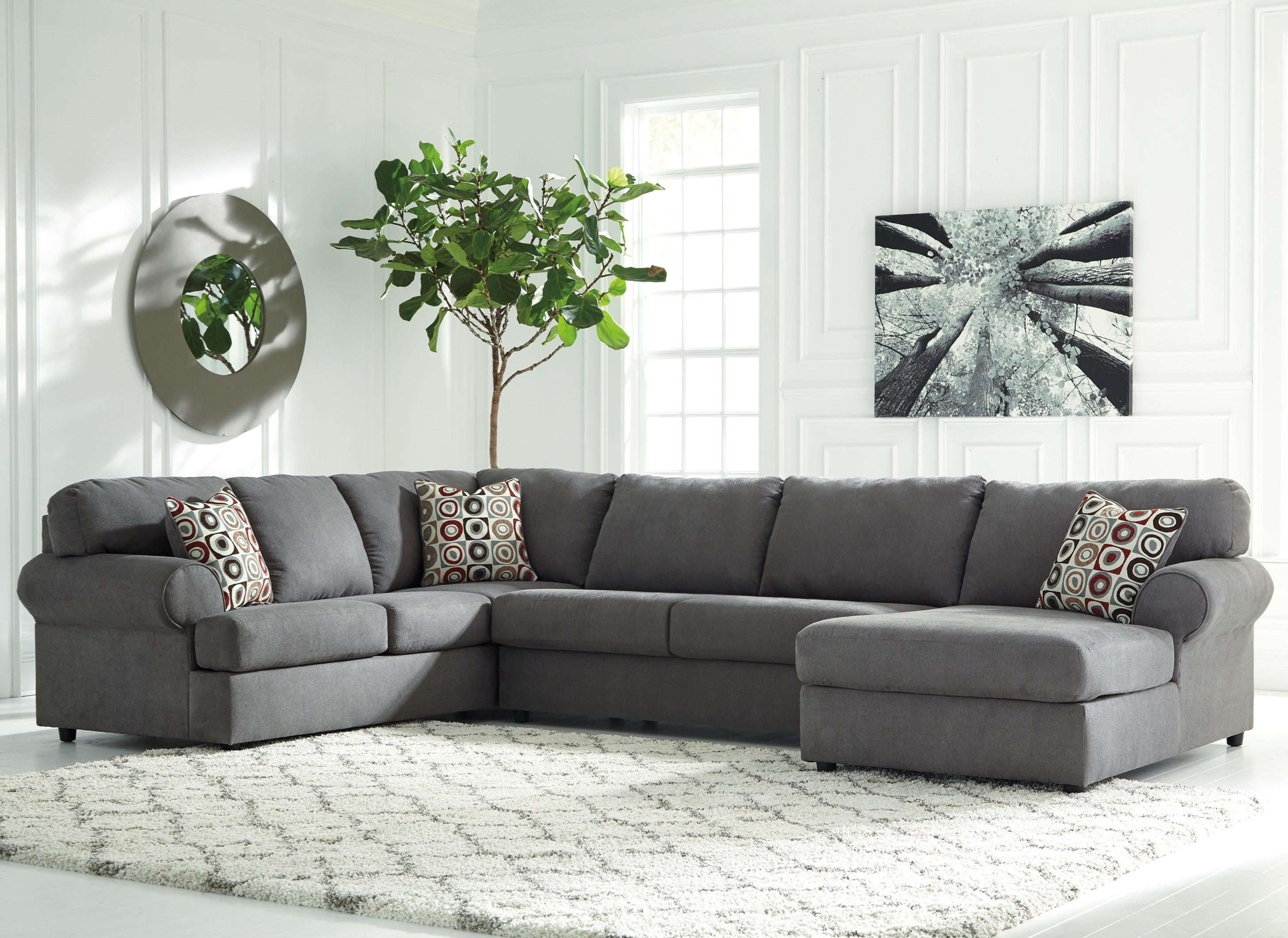 Signature Designashley Jayceon 3 Piece Sectional With Left Throughout Fashionable Left Chaise Sectionals (View 11 of 15)
