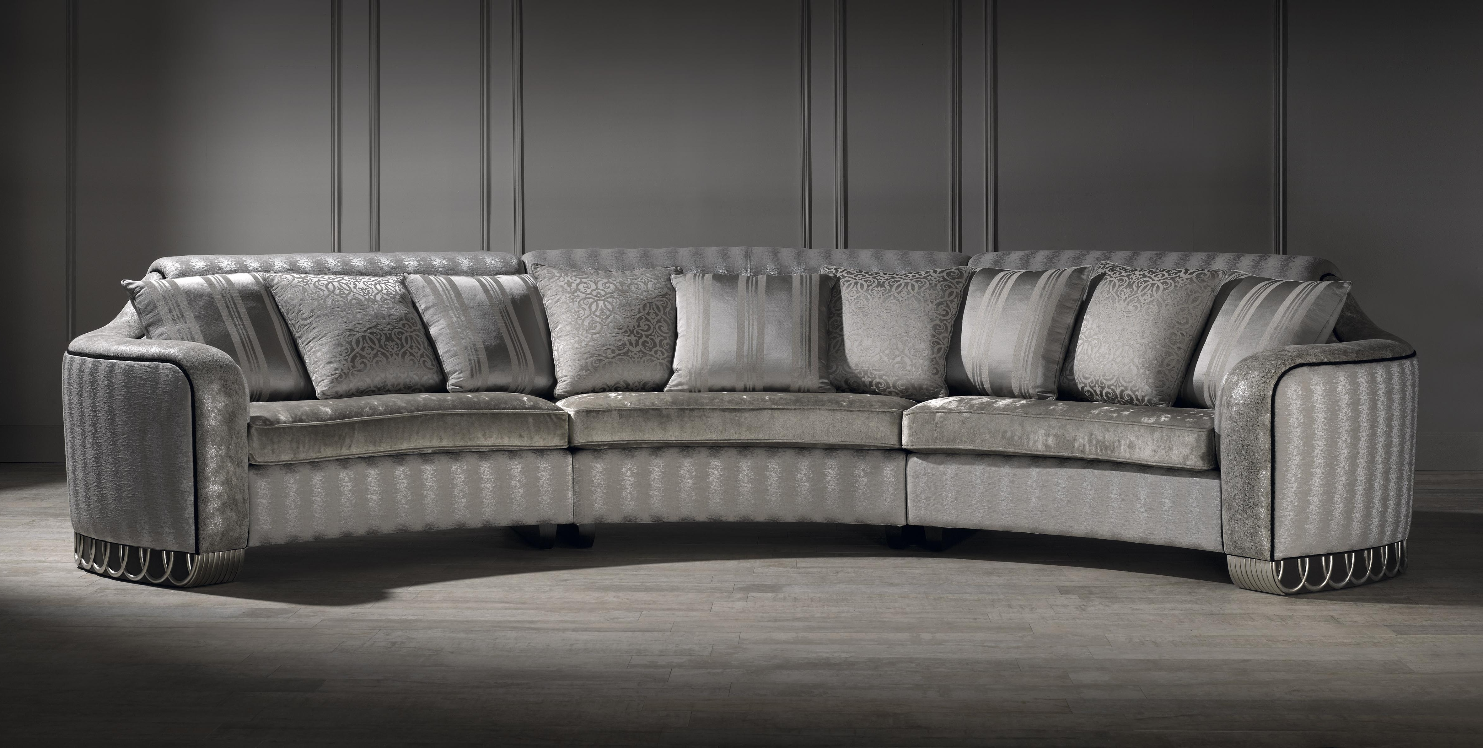 Silver Curved Sofa, Luxury Curved Sofa, Unusual Sofa, Large Sofa Intended For Favorite Unusual Sofa (View 5 of 15)