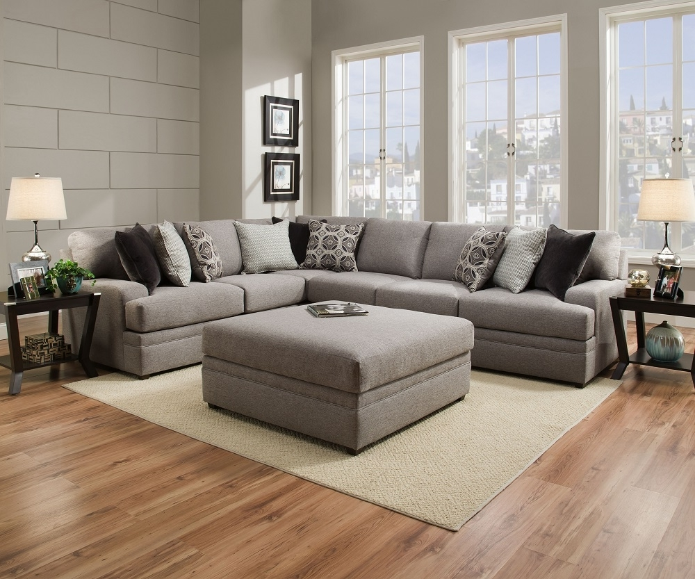 Simmons Beautyrest 8561 Pocket Coil Grey Sectional Sofa San Diego Throughout Preferred Simmons Sectional Sofas (View 6 of 15)