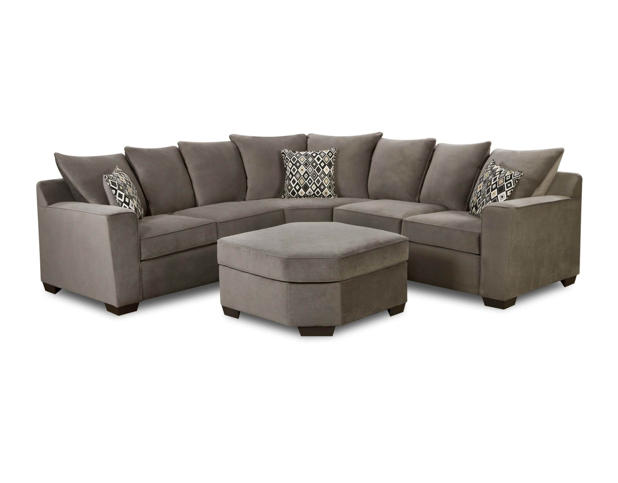 Simmons Roxanne Gunsmoke Sectional (View 12 of 15)
