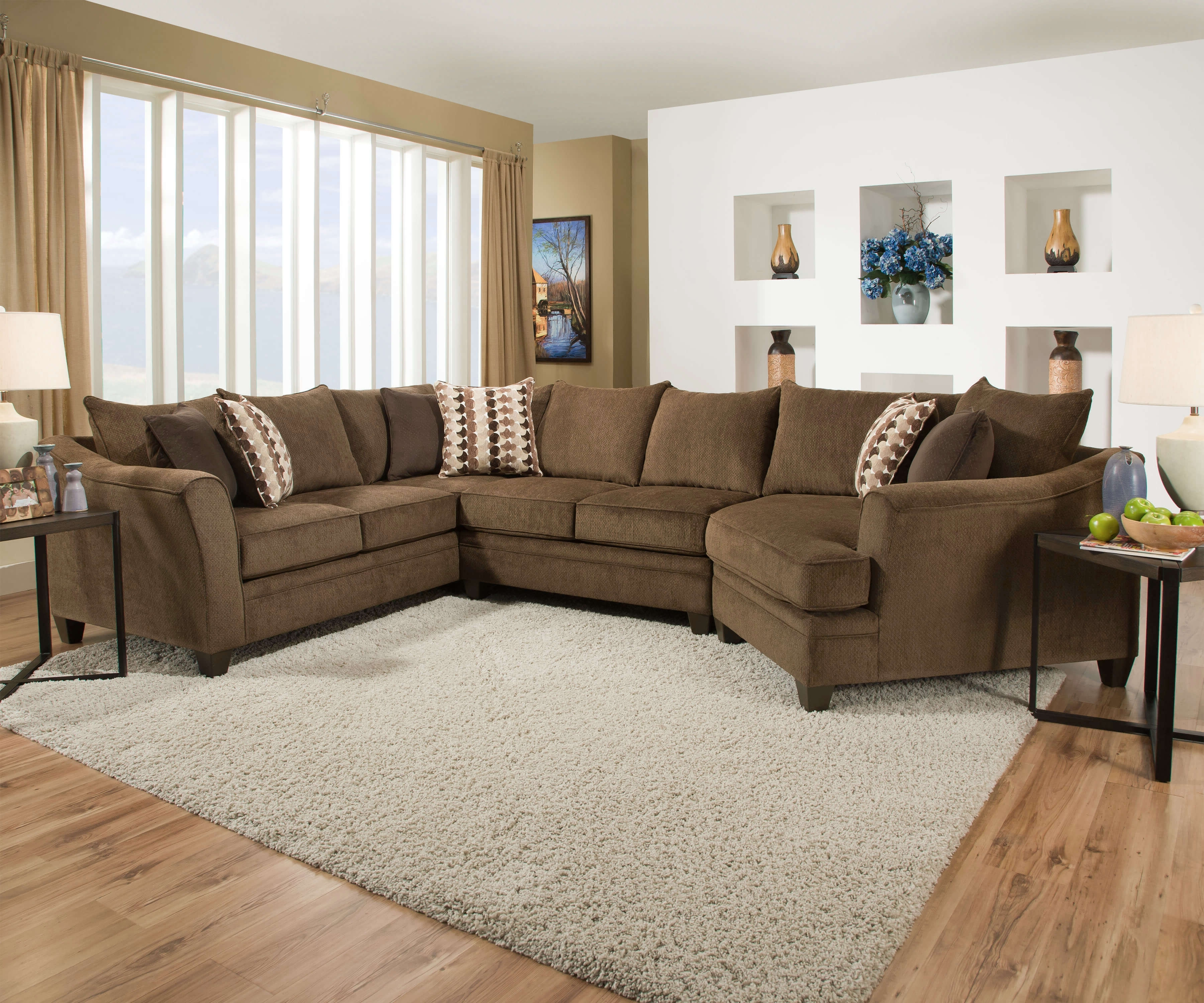 Simmons Sectional Sofas Throughout Favorite Chestnut Sofa And Loveseatsimmons (View 10 of 15)