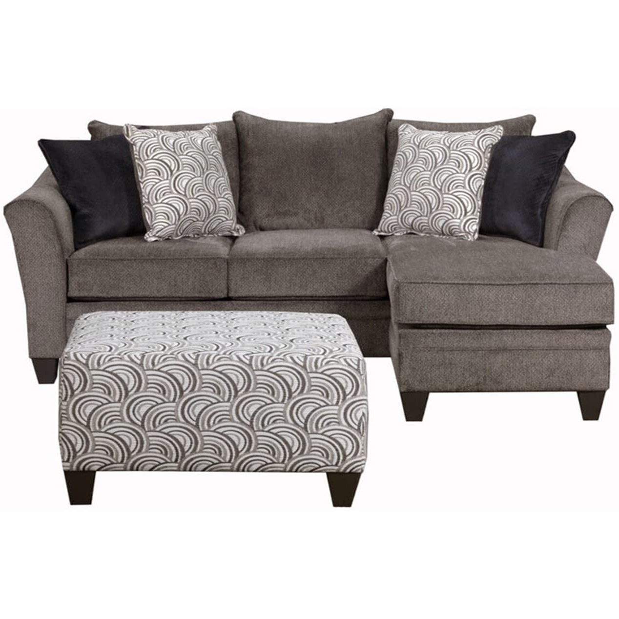 Simmons Upholstery Albany Pewter Sofa Chaise – Free Shipping Today Intended For Most Current Simmons Chaise Sofas (View 11 of 15)