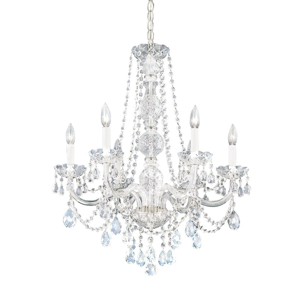 Six Light Heritage Crystal Chandelier (View 3 of 15)