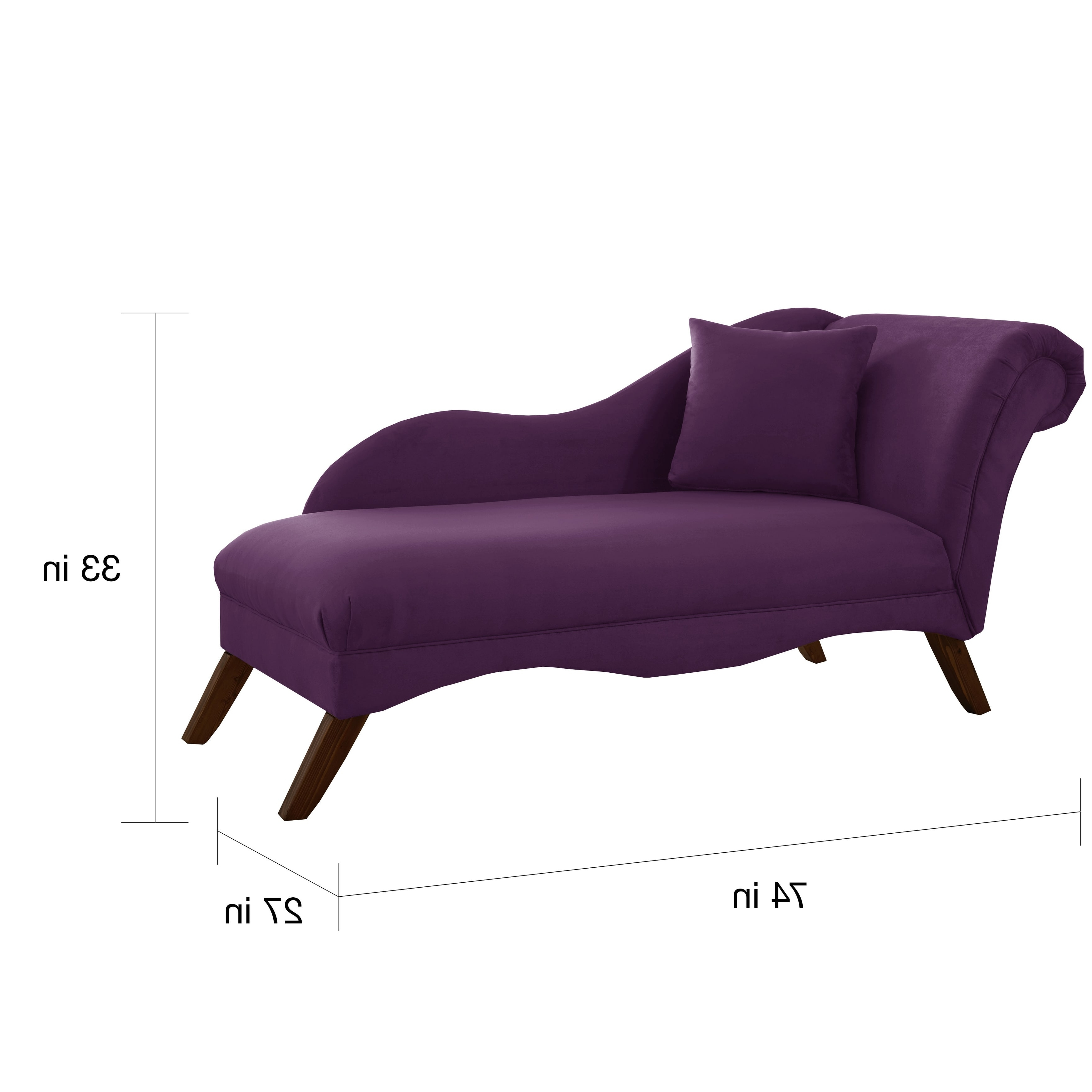 Skyline Chaise Lounges In 2017 Skyline Furniture Chaise Lounge In Velvet Aubergine – Free (View 5 of 15)