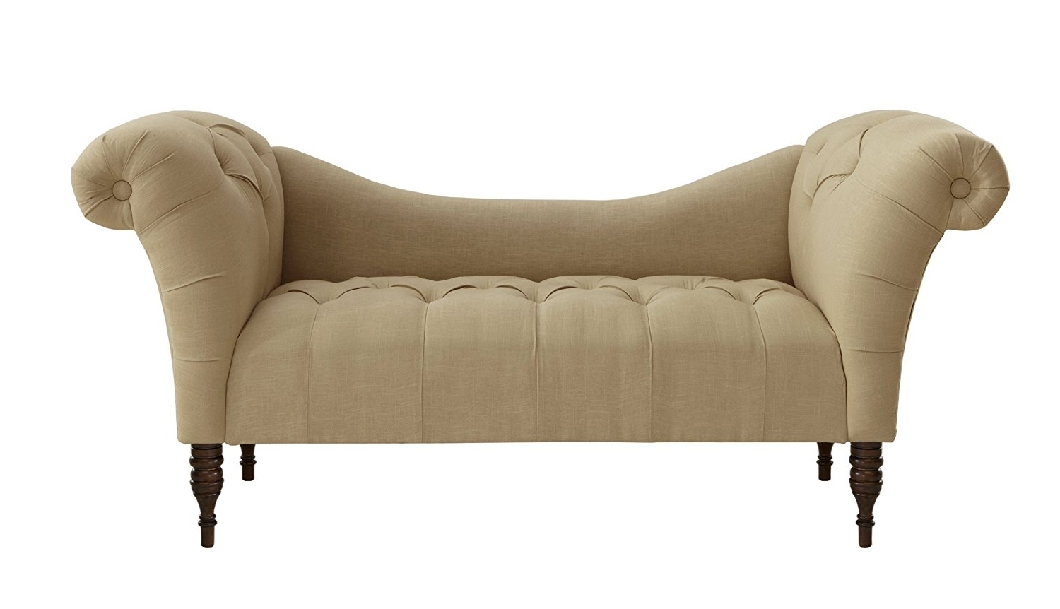 Skyline Chaise Lounges Within Best And Newest Amazon: Skyline Furniture Tufted Chaise Lounge In Linen (View 11 of 15)