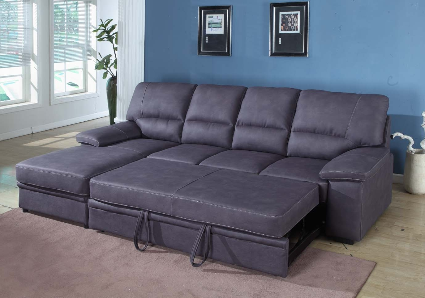 Sleeper Sectional Sofas In Well Liked Grey Sleeper Sectional Sofa (View 3 of 15)