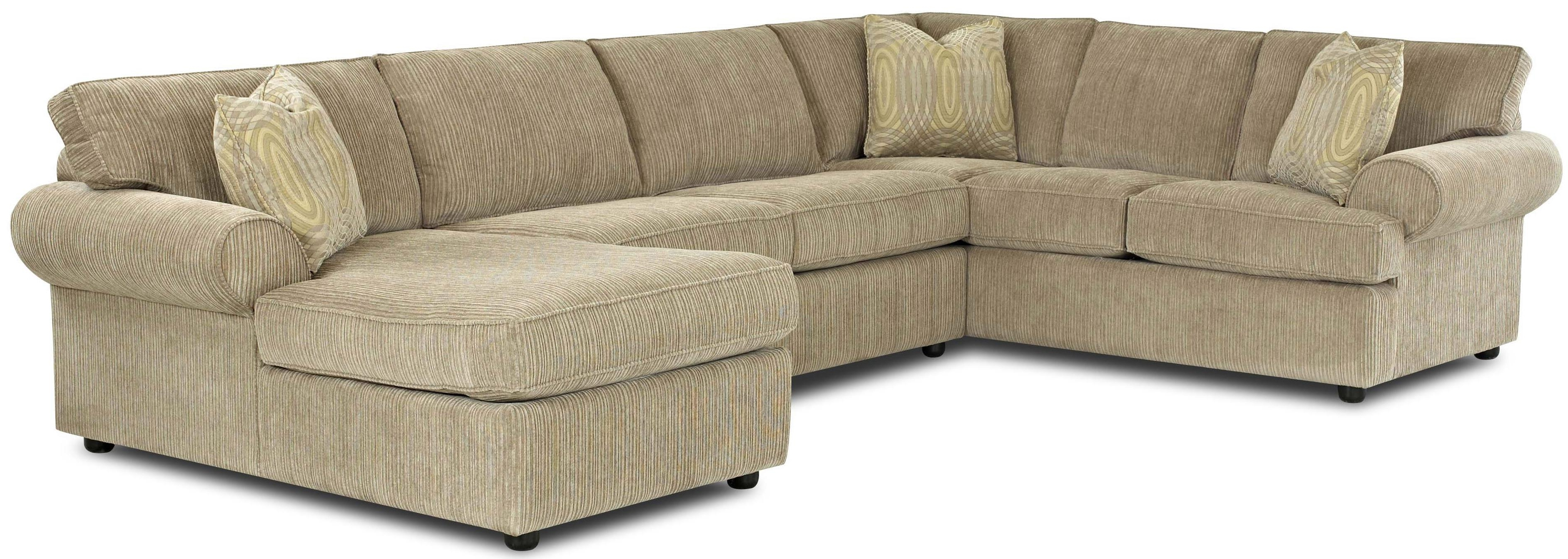 Sleeper Sectionals With Chaise For Well Known Transitional Sectional Sofa With Rolled Arms And Right Chaise And (View 9 of 15)