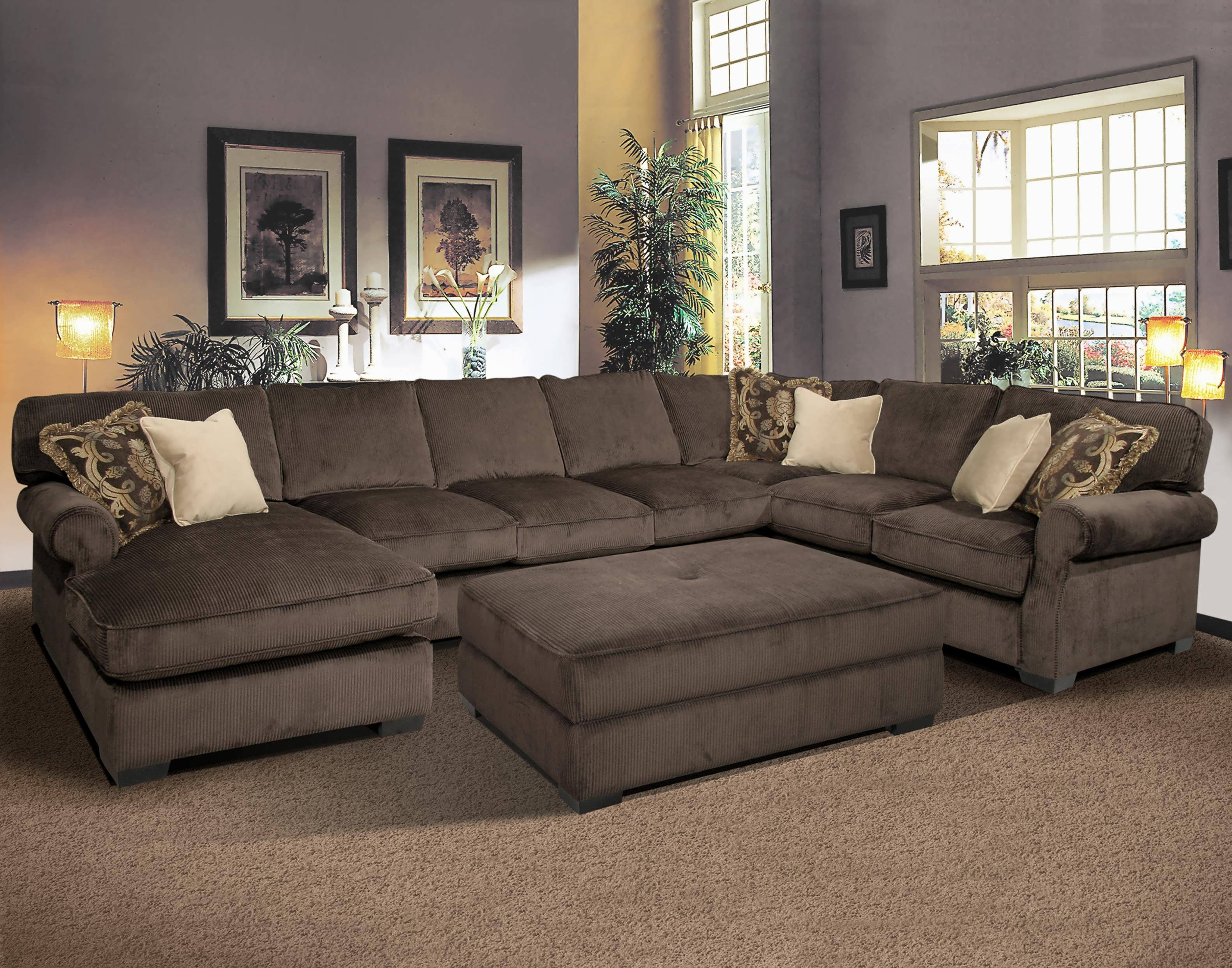 Sleeper Sofa Sectionals With Chaise Throughout Most Current Sofa : Leather Reclining Sectional 4 Piece Sectional Sofa (View 6 of 15)