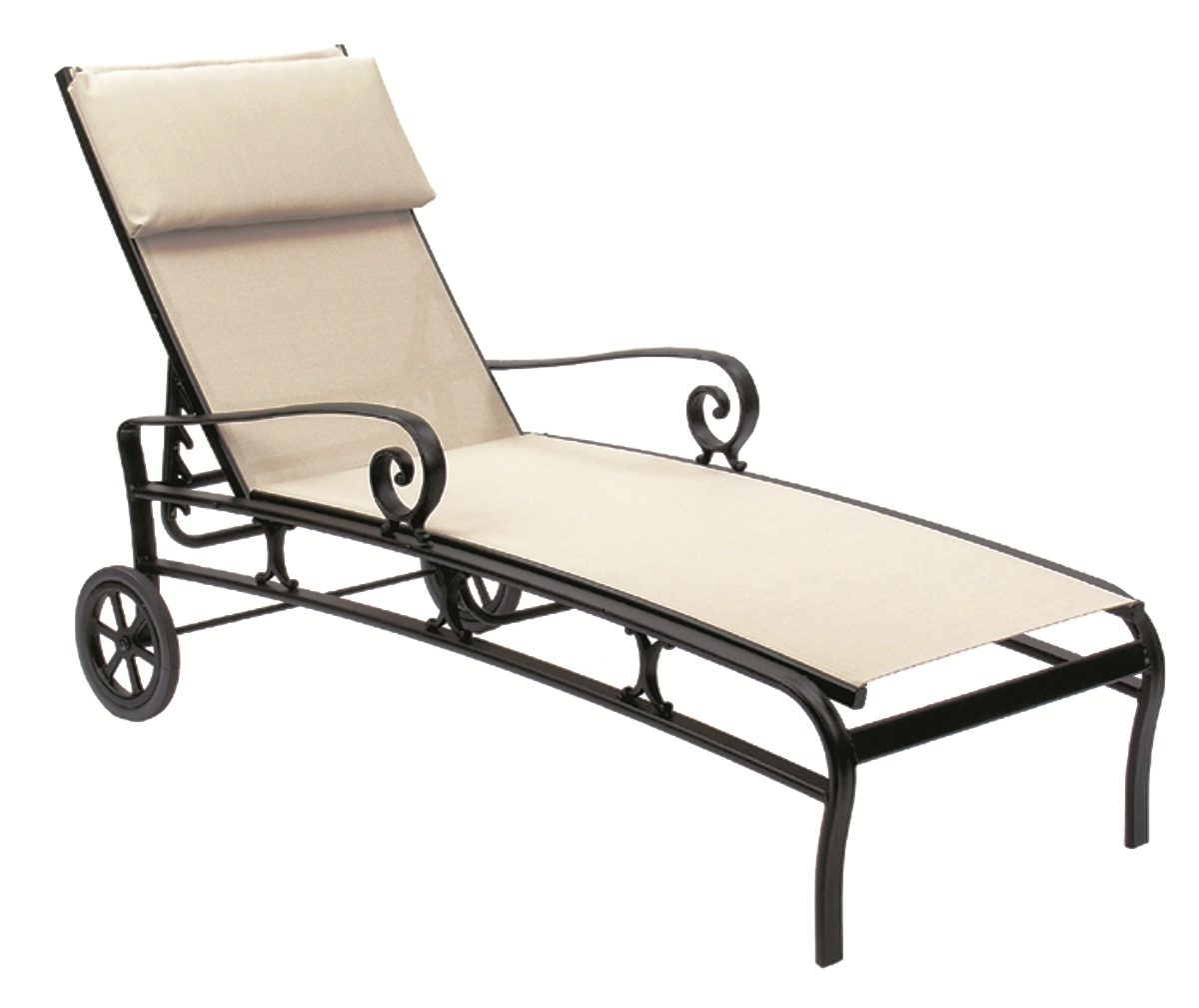 Sling Chaise Lounge Chair Contemporary Patios Suncoast Patio Pertaining To Trendy Sam's Club Chaise Lounge Chairs (View 7 of 15)