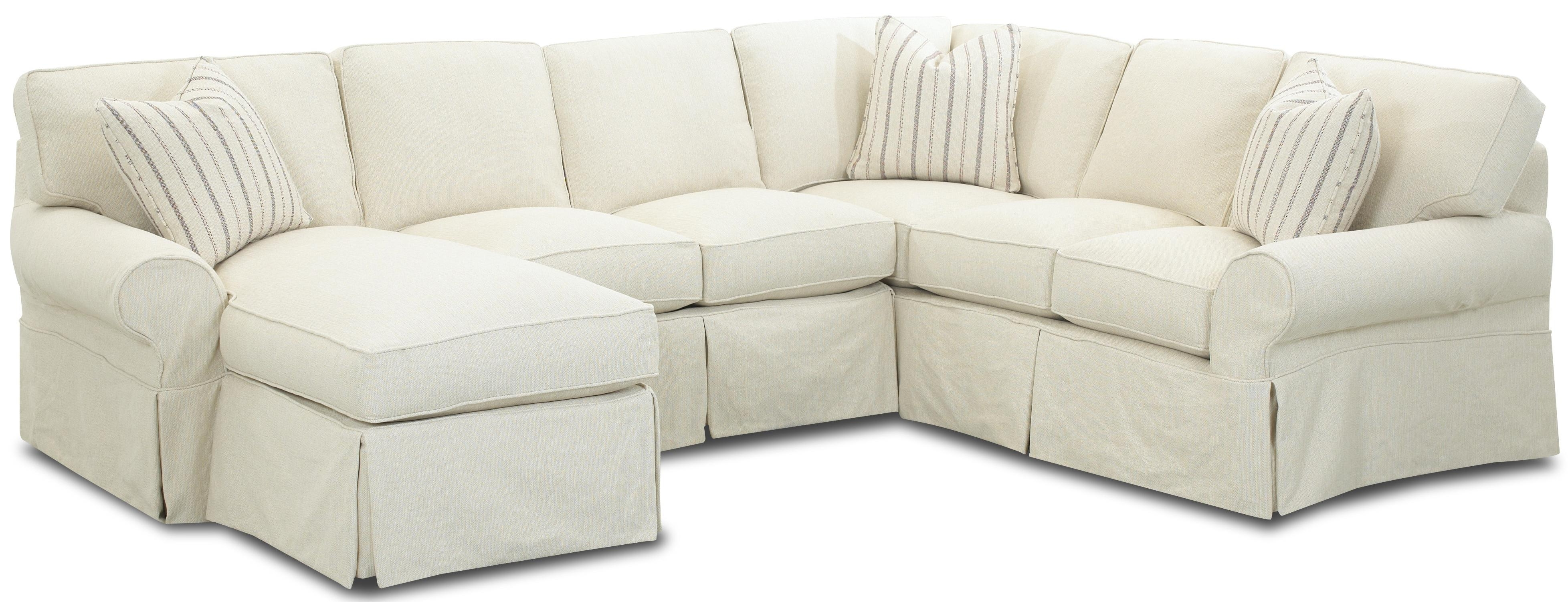 Slipcover Sectional Sofas With Chaise Pertaining To Recent Awesome Slipcover Sectional Sofa With Chaise 91 For Modern Sofa (View 3 of 15)