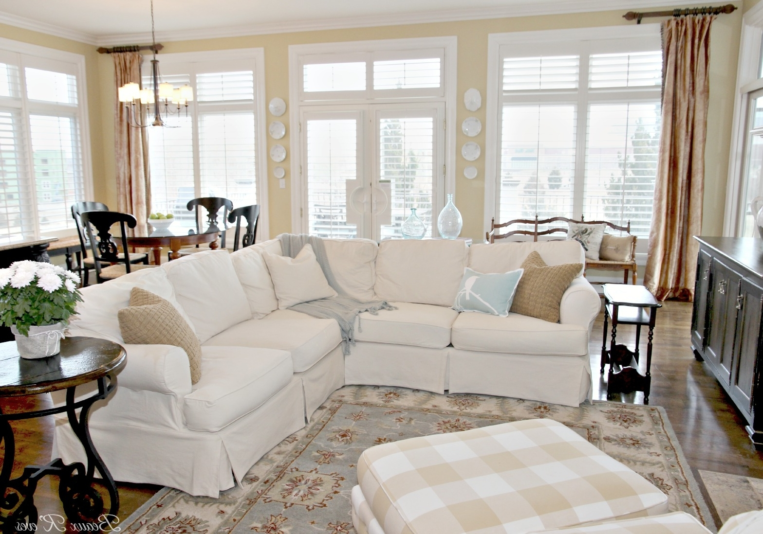 Slipcovered Sofas With Chaise Pertaining To Recent Beaux R'eves: Pottery Barn Knock Off Jcpenney Slipcovered (View 10 of 15)