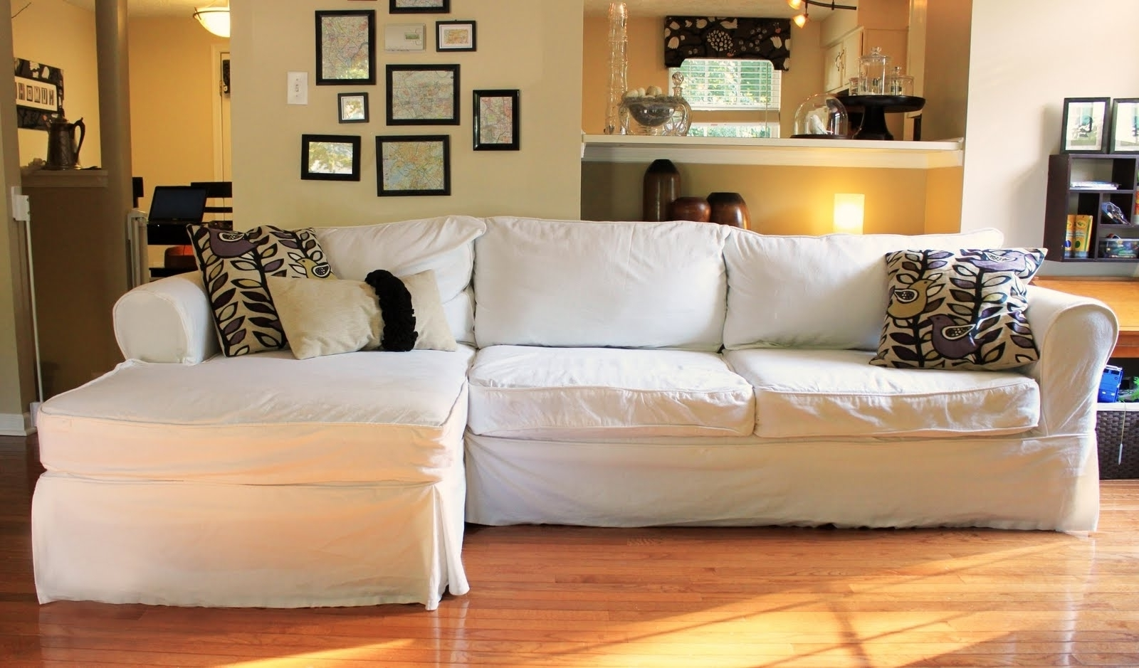 Slipcovers For Sectional Sofas With Chaise With Favorite Sectional Sofa Design: Awesome Stretch Slipcovers For Sectional (View 11 of 15)