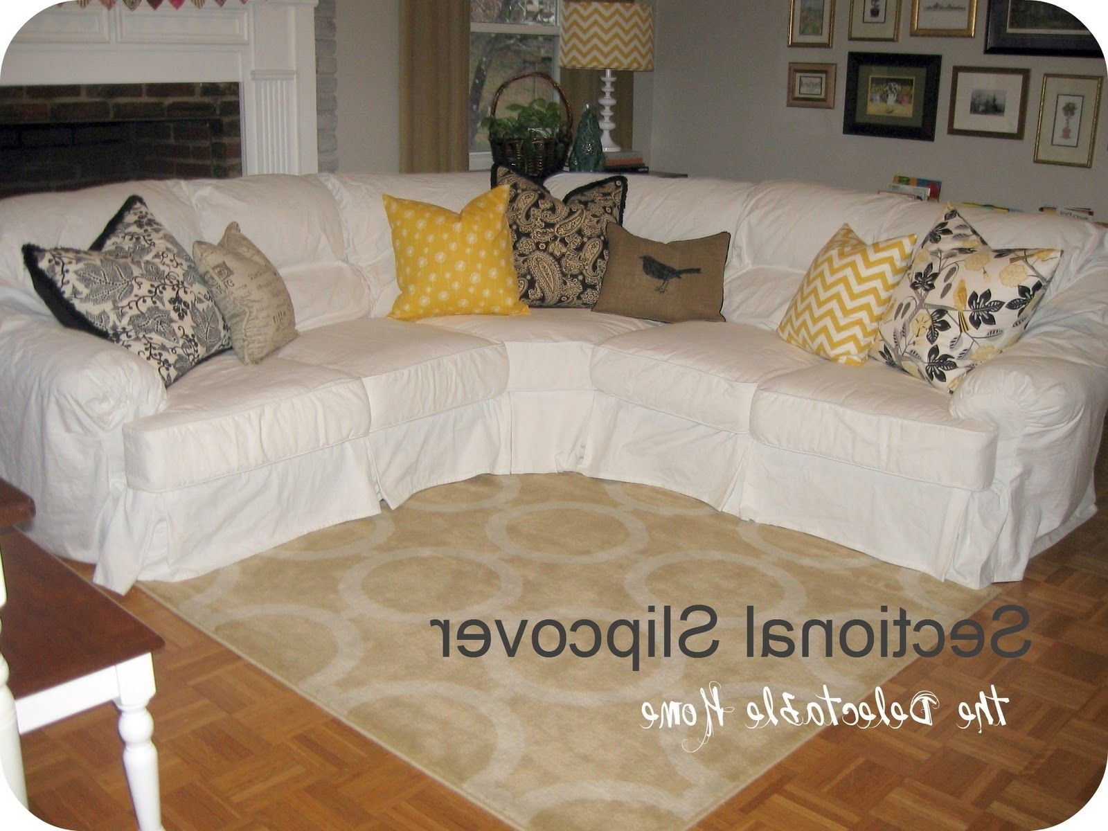 Slipcovers For Sectionals With Chaise For Well Known The Delectable Home: Impossible Sectional Slipcover (View 13 of 15)