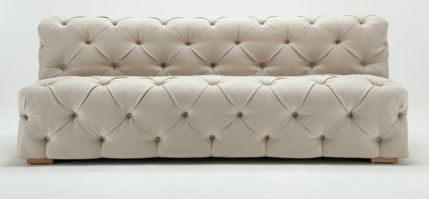 Small Armless Sofas Intended For Widely Used Rosdorf Park Pratt Tufted Armless Sofa & Reviews (View 12 of 15)