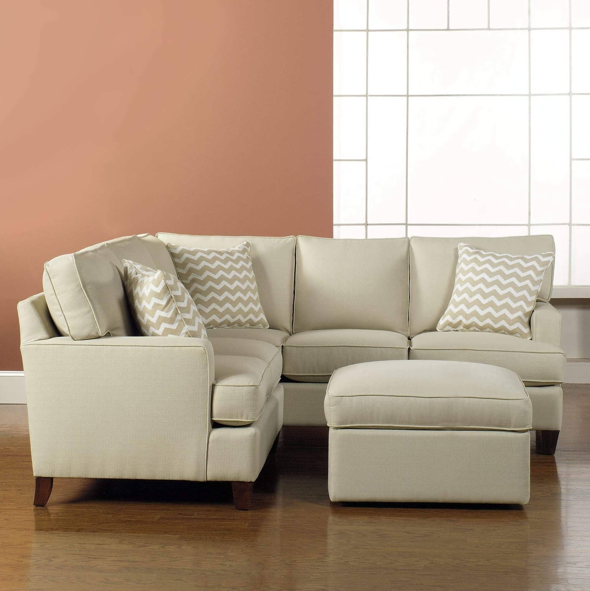 Small Loveseats With Chaise With Most Current Sofa : Modern Sectional Sofas Small Corner Couch Mini Sectional (View 3 of 15)