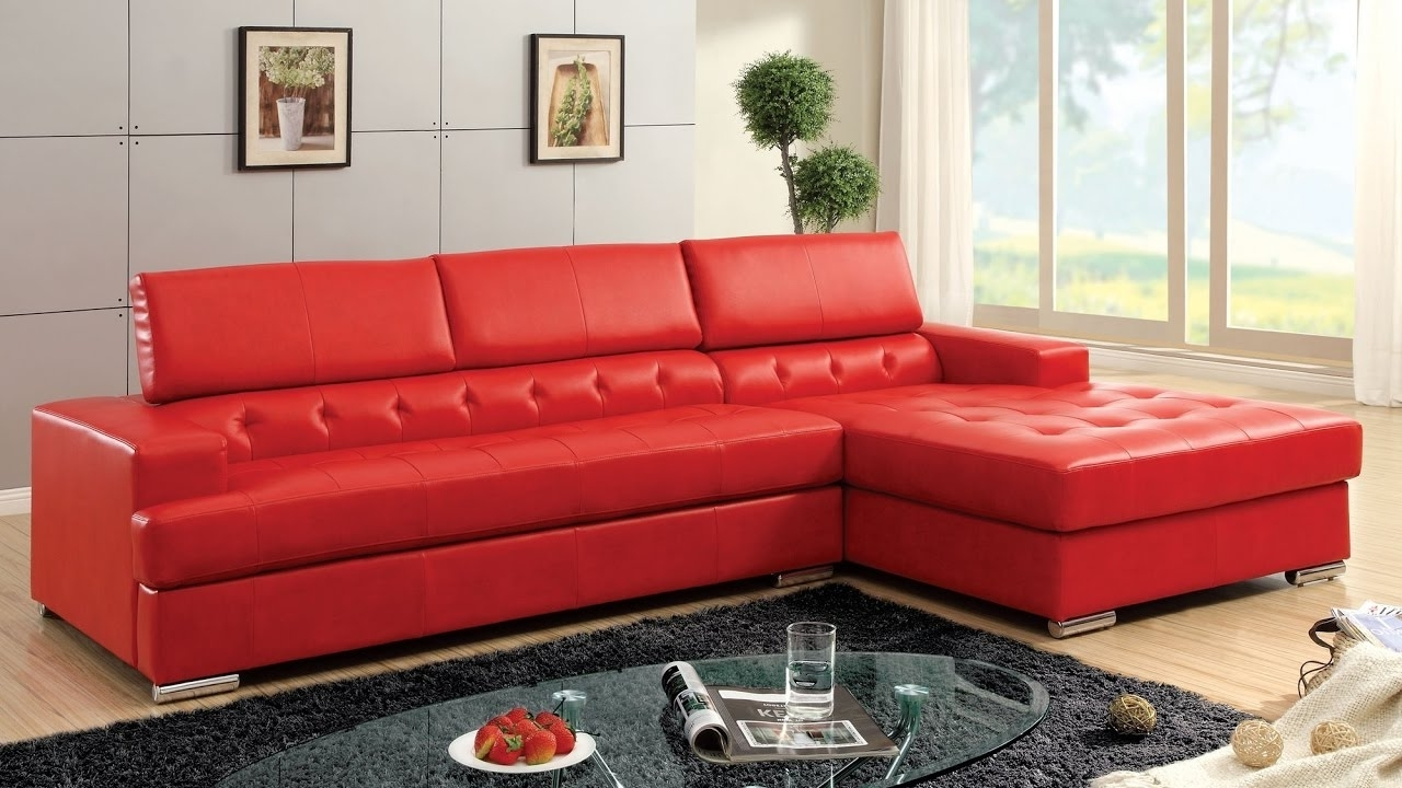 Small Red Leather Sectional Sofas Inside Newest Red Sectional Sofa Be Equipped Cheap Red Sectional Be Equipped (View 9 of 15)