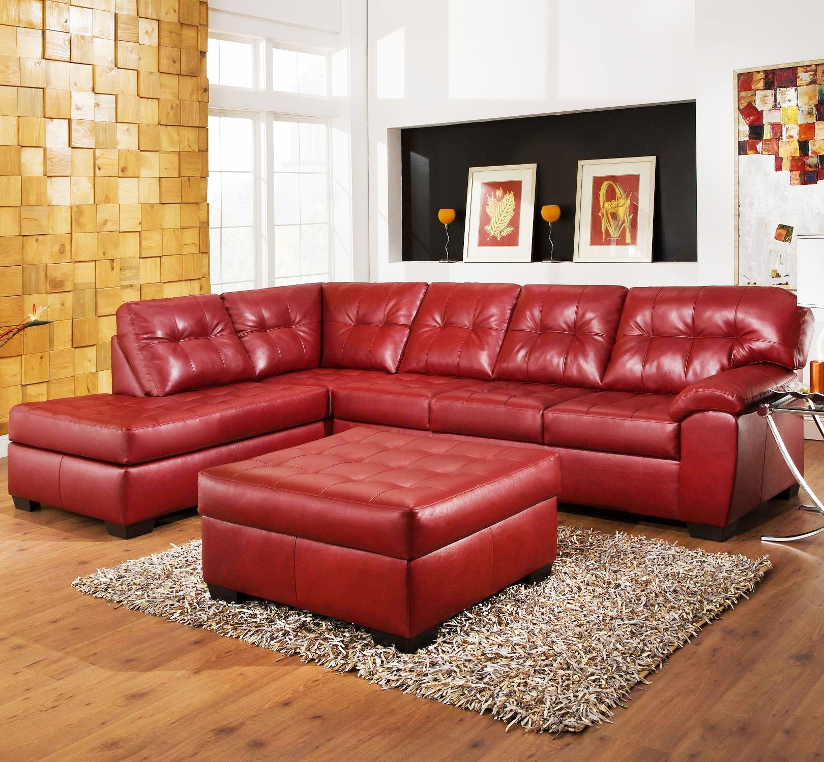 Small Red Leather Sectional Sofas With Best And Newest Sofas : Sectional Couch Small Sectional Couch Red Sectional Couch (View 3 of 15)