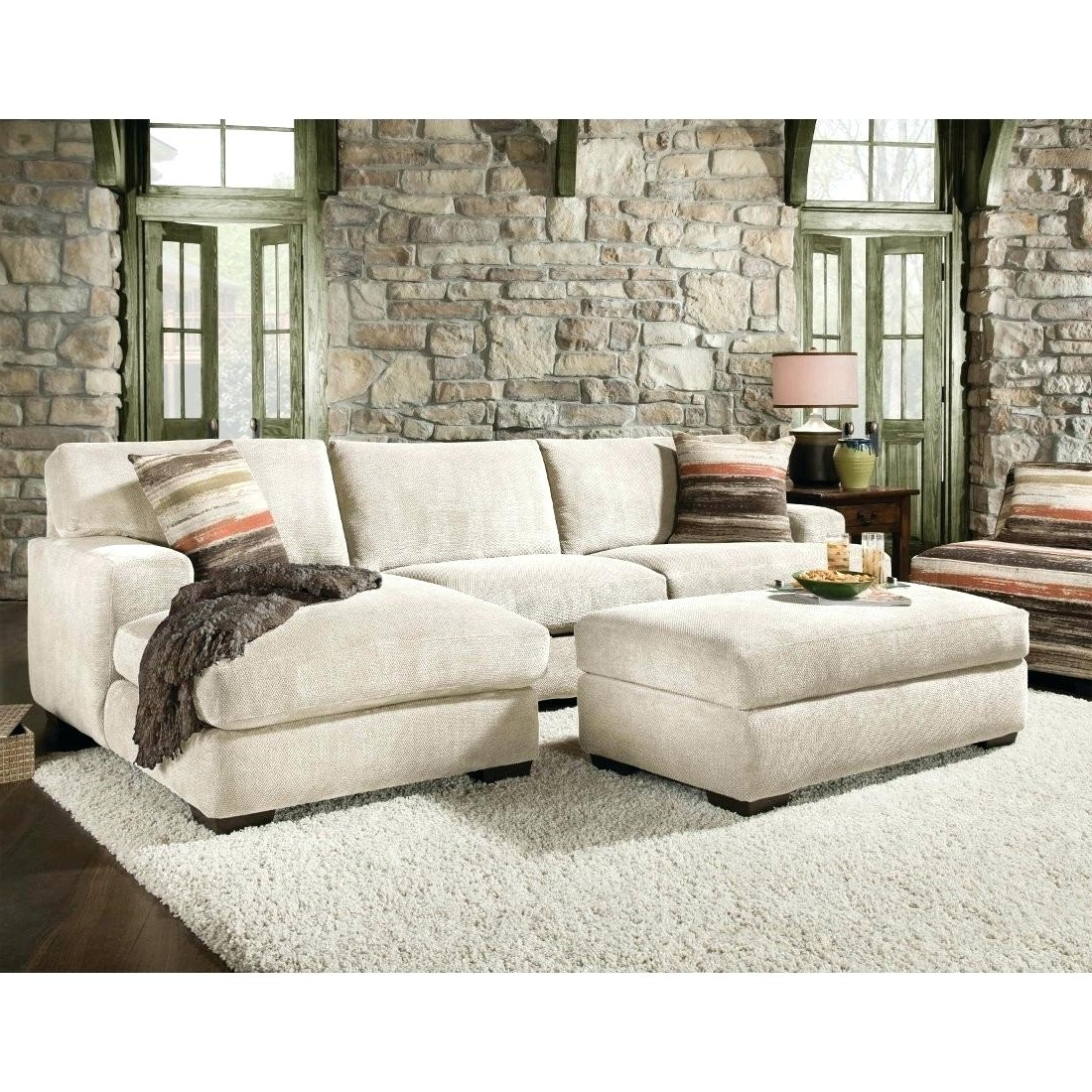 Small Sectional Sofas With Chaise And Ottoman In Famous Small Sectional Sofa With Chaise And Ottoman No (View 13 of 15)