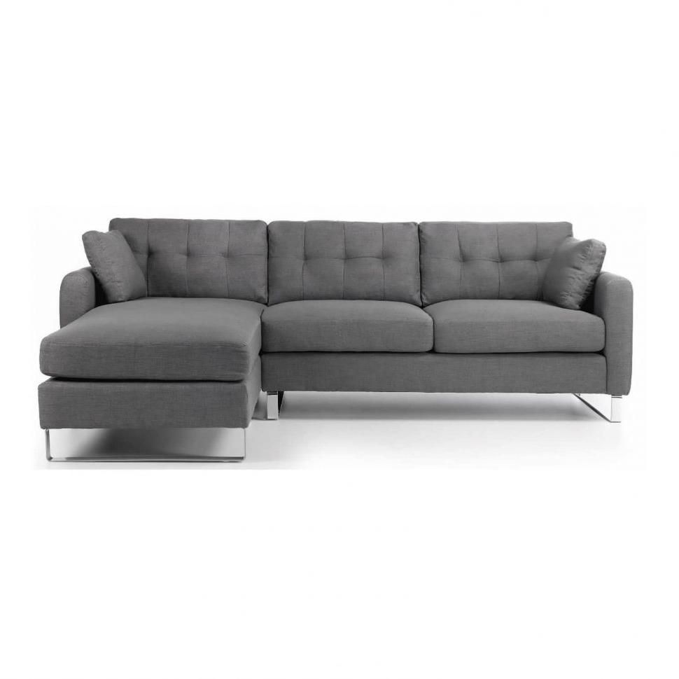 Small Sofa Chaises Inside Popular Sofa : Brown Leather Sectional Sectional Sofa Bed Small Sofa (View 13 of 15)