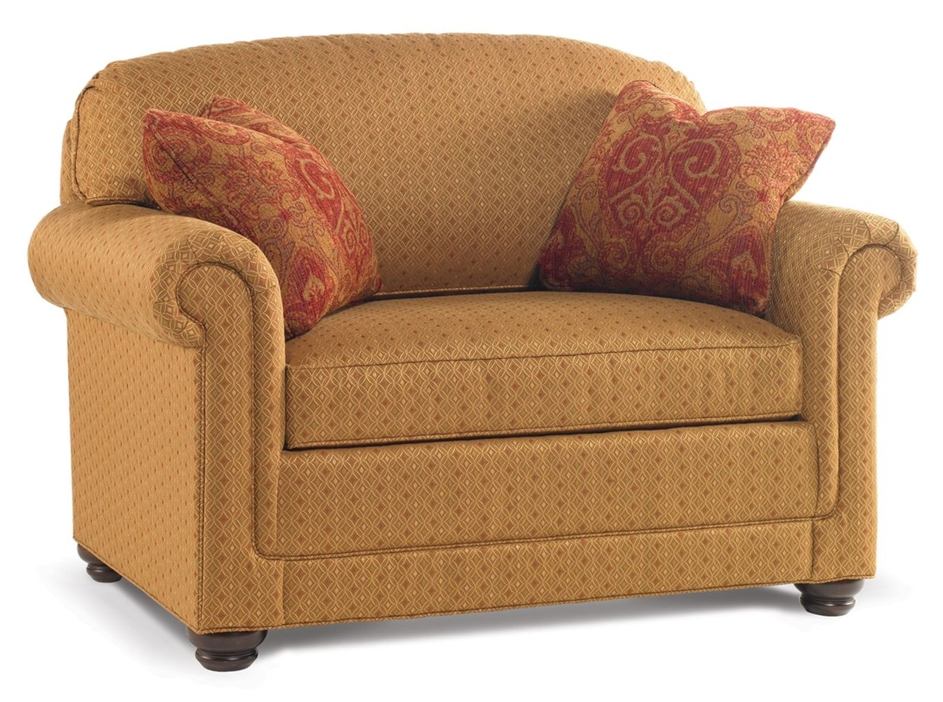 Small Twin Sleeper Sofas Chairs With Pillow And Storage Plus Brown Inside Well Known Sofas And Chairs (View 12 of 15)