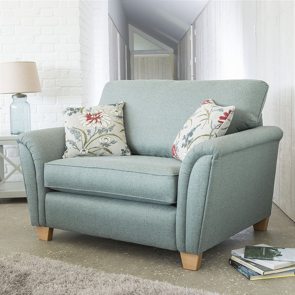 Snuggle Sofas With Regard To Best And Newest Sturtons Adrienne Snuggle Chair (View 6 of 15)