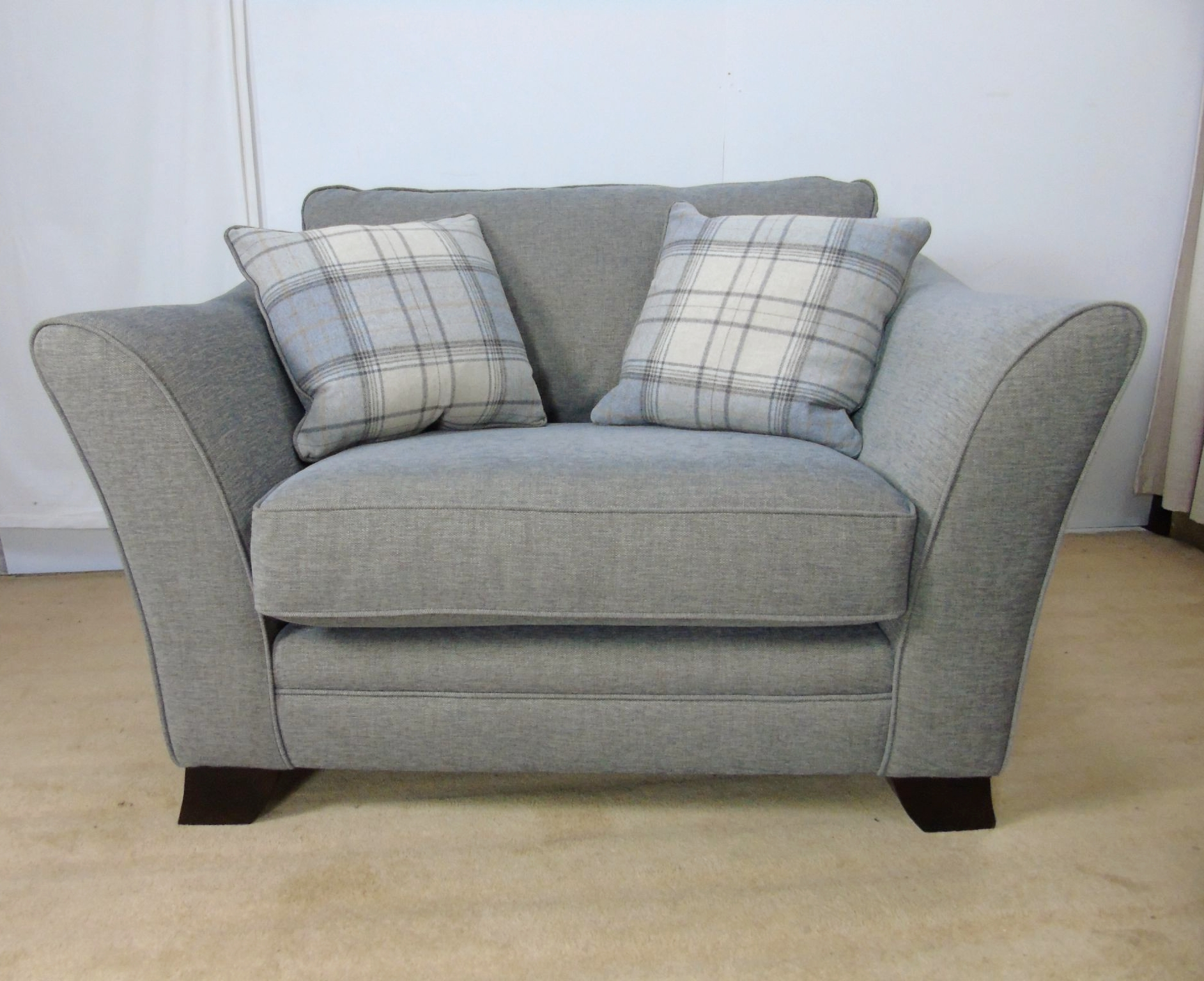 Snuggle Sofas Within Favorite Annalise Snuggle Chair Hellas Grey (View 5 of 15)