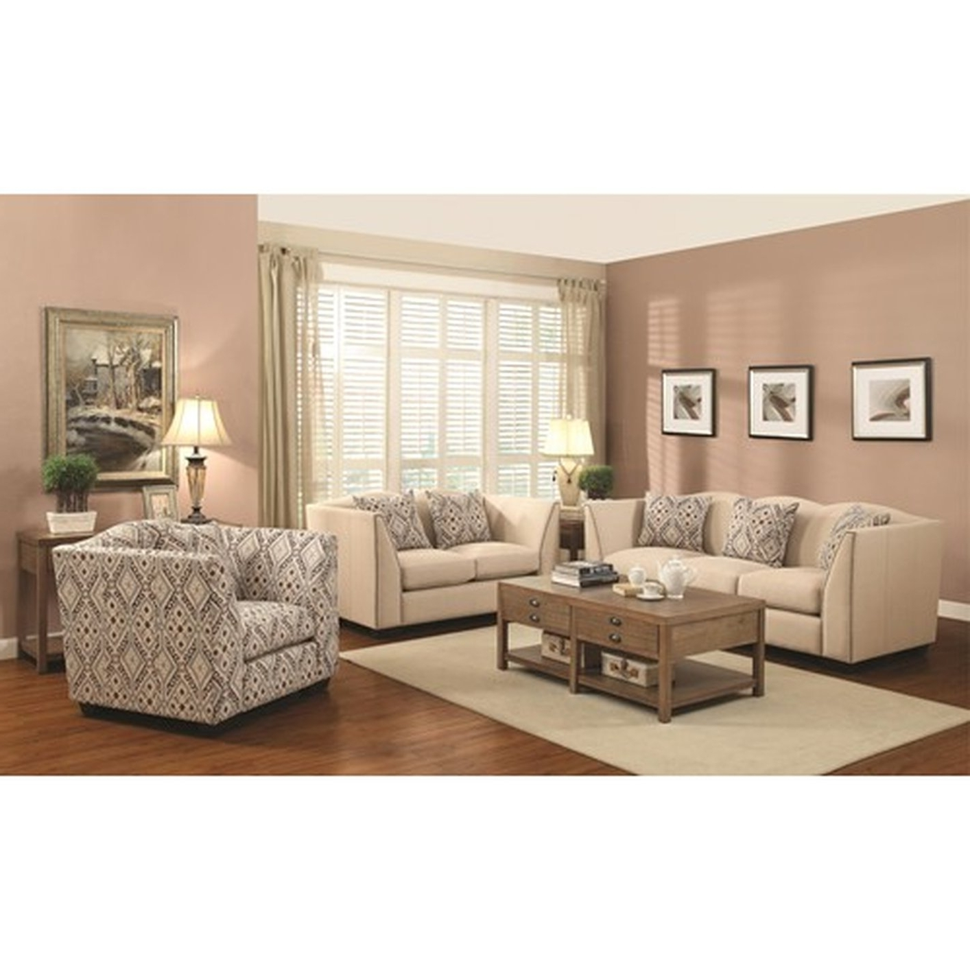 Sofa And Accent Chair Sets Intended For Preferred Siana Beige Fabric Accent Chair – Steal A Sofa Furniture Outlet (View 10 of 15)