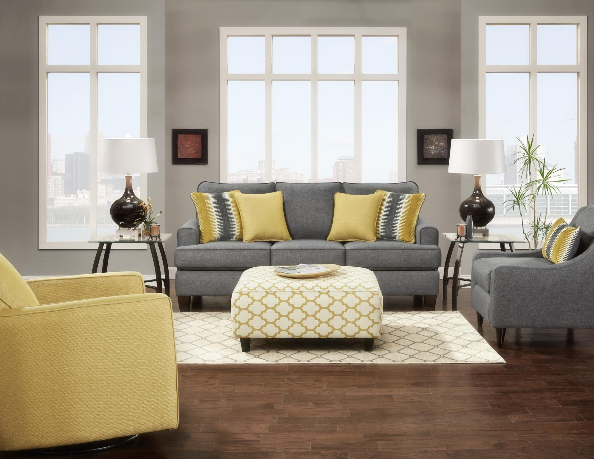 Sofa And Accent Chair Sets With Regard To Latest Maxwell Grey Sofa And Love Seat Matching Accent Chair Available (View 11 of 15)