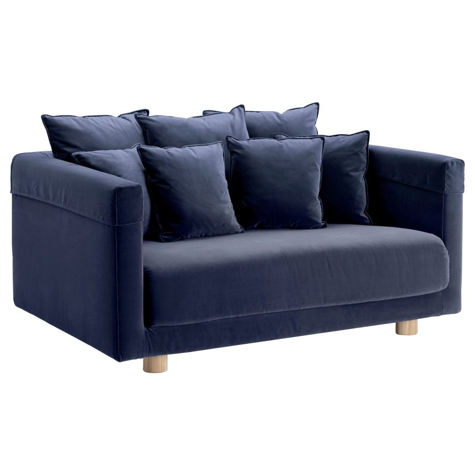Sofa : Beautiful Denim Sofa Ikea Stockholm Two Seat Blue Sectional With Regard To Best And Newest Unusual Sofas (View 14 of 15)