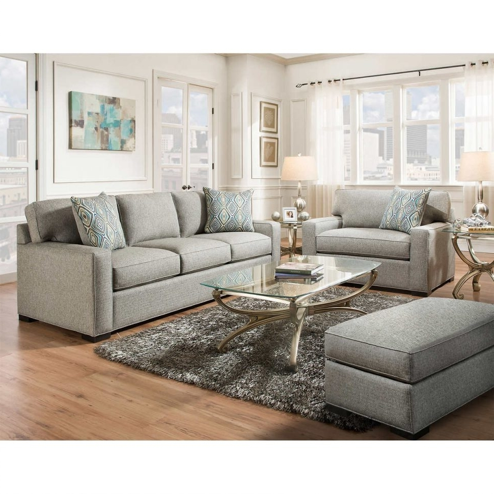 Sofa Chairs For Living Room Inside Well Liked Living Room Design : Charming Gray Leather Living Room Furniture (View 8 of 15)