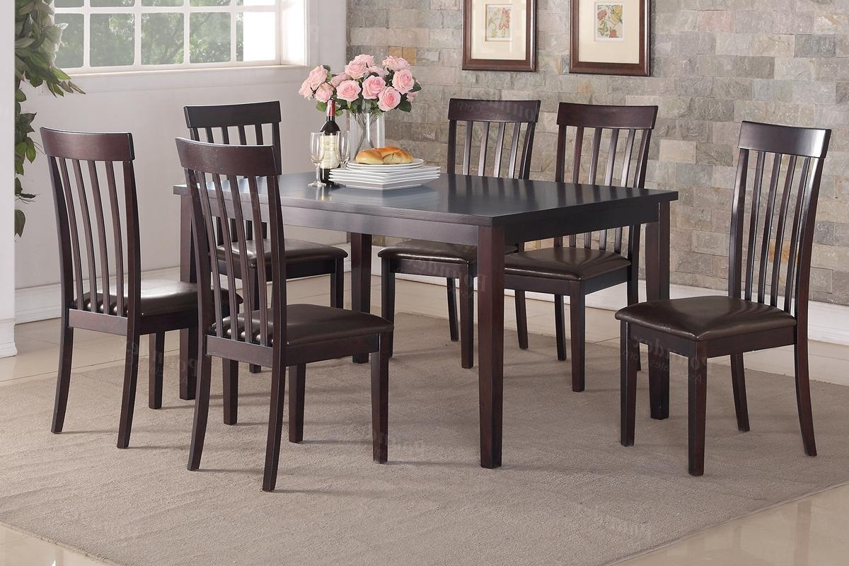 Sofa Chairs With Dining Table With Regard To Most Current Brown Wood Dining Table And Chair Set – Steal A Sofa Furniture (View 5 of 15)