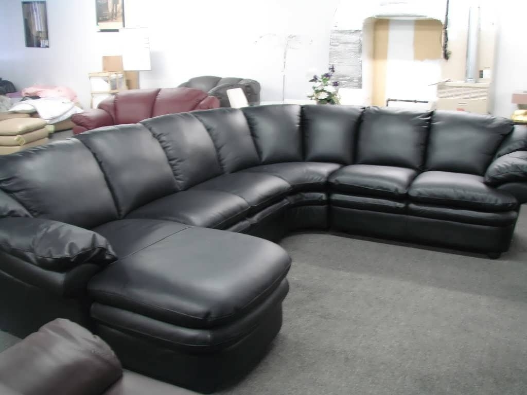 Sofa : Cheap Sofas Black Microfiber Sectional Sofa Chaise Sofa In Current Black Leather Sectionals With Chaise (View 13 of 15)
